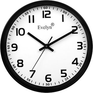 Evelyn Round Design Wall Clock For Office Bed Room Lobby Kitchen Stylish Clocks Modern