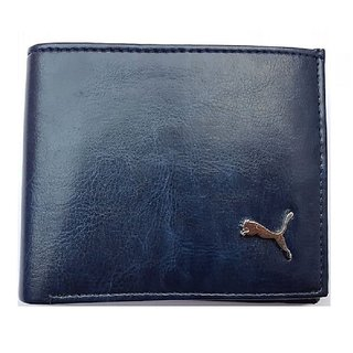 Puma Men Blue Genuine Leather Wallet