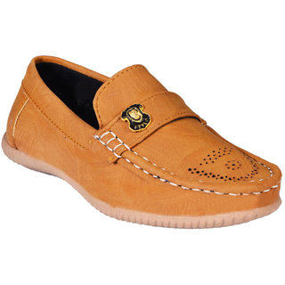 TOP FRIENDS PARTYWEAR/ CASUAL CAMEL COLOR MOCASSIONS FOR KIDS (48)