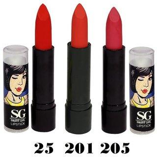 Amura Smart Girl LipStick Set of 3 (25,201,205)