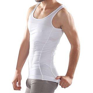 Slim N Lift Slimming Vest Tummy Tucker Inner Wear For Men (White)