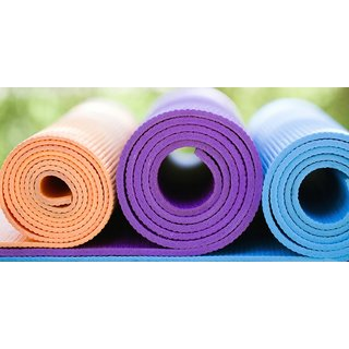 Yoga Mat for free hand Exercises and Complete yoga set of 2