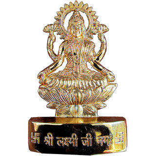 Gold Plated Laxmiji Idol