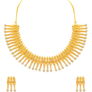 MJ Adorable One Gram Gold Plated Necklace Set For Women