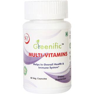 Greenific Multi Vitamin (60 Capsules)- 100 Organic