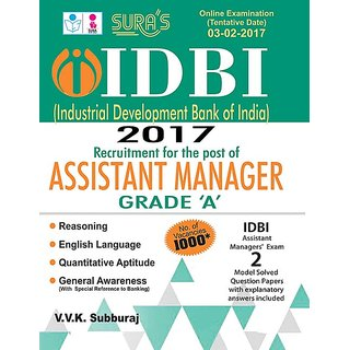 IDBI Bank Assistant Manager Grade A Exam Books 2017