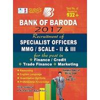 Bank of Baroda Specialist Officers (MMG/SCALE - II  III) Exam Books 2017