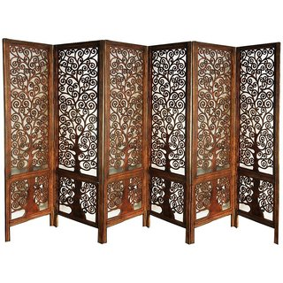 Stupendous Shilpiwooden Partition Room Divider Screen 6 Panel Mango Wood Download Free Architecture Designs Embacsunscenecom