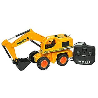 Zaprap Remote Control JCB Shovel Loader Truck Toy - Yellow