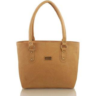Clementine Beige Plain Handbag