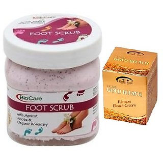 BIOCARE Foot Scrub 500 ML, Pink Root Golden Bleach Pack of 2