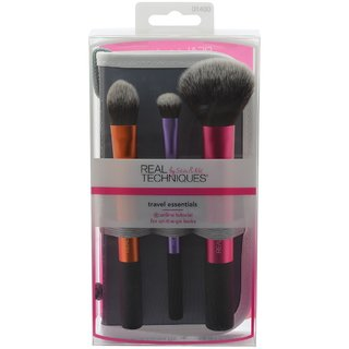 Real Techniques Tarvel Essentials Set Real Techniques Brush Set New Look with Case