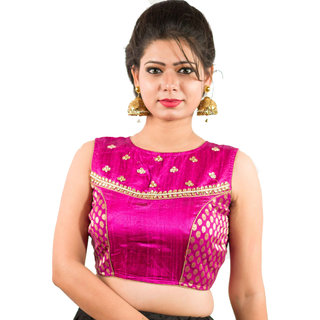 55e009ca9e9 Buy Intrigue Magenta Raw Silk Stitched Blouse Online - Get 13% Off