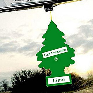 Set of 2 Little Trees Hanging Car Air Freshener / Perfume - Lime Fragrance