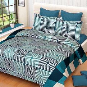 k decor  3D Printed Super Soft Double Bedsheet + 2 Pillow Covers(PC-DBL-3D48)