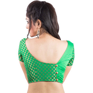 b1cf4f48fe6be3 Buy Intrigue Green Silk Stitched Blouse Online - Get 22% Off