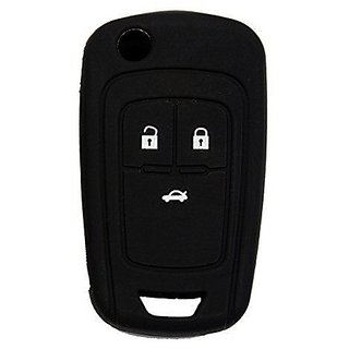 THE FAMILY STORE Chevrolet Black Silicone Key Cover