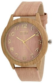 New Designer Wooden Print Analog Watch For Mens And Womens