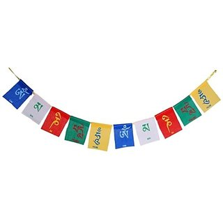SCORIA Tibetan Buddhist Multicolor Bike Flags