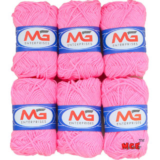 M.G Pink Pack of 10 Balls, hand knitting  Acrylic yarn wool balls thread for Art & craft, Crochet and needle