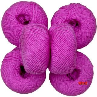 M.G Baby Soft.Purple Pack of 6 Balls, hand knitting  Acrylic yarn wool balls thread for Art & craft, Crochet and needle