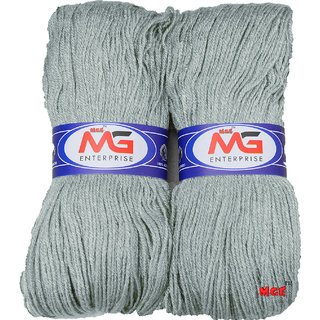 M.G MicroShine Steel Grey 400 gm hand knitting Soft Acrylic yarn wool thread for Art & craft, Crochet and needle