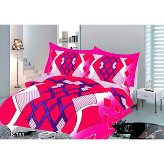 Angel homes Cotton Double Bedsheet (Super Soft) with 2 Pillow Covers (KM637)