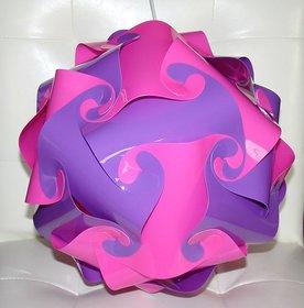 pink purple Ball Lamp, Jigsaw Puzzle Lamp, Hanging Lamp, Night Lamp, Ceiling Lamp, IQ Lamp , Room Lamp