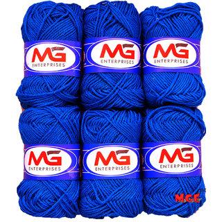 M.G Blue Pack of 12 Balls, hand knitting  Acrylic yarn wool balls thread for Art  craft, Crochet and needle