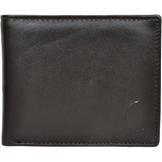 Chandair Pure Leather Black Brownish Shade Mens Wallet (CH-NW-05)