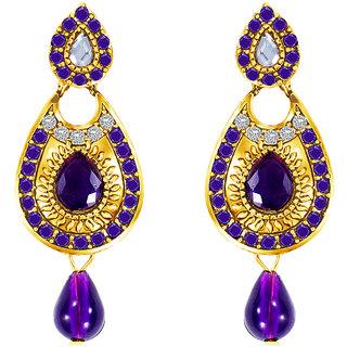 MJ Smoky Gold Plated Dangler Earring For Women