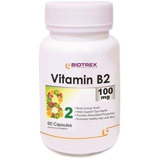 Biotrex Vitamin B2 - 100mg (60 Capsules)