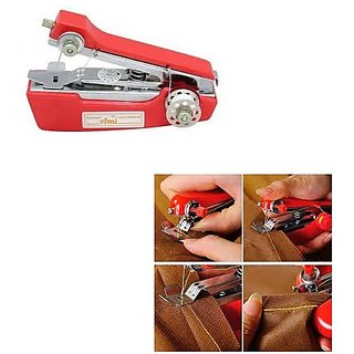 Red trendy Ami Portable  Handy Sewing Machine