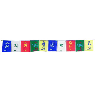 SCORIA Tibetan Buddhist Prayer Multicolor Flags