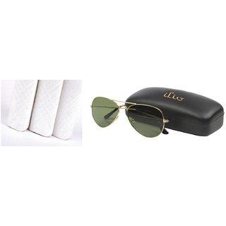 Classic Look Green Aviator And 3 Mens Handkerchiefs GS-101