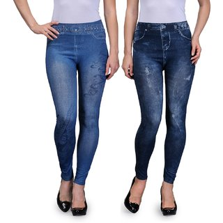 Oleva Denim Look Jegging Pack Of 2 ODLJ-2-19