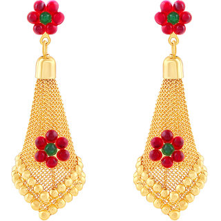MJ Smooth Gold Plated Jhumki Earring For Women