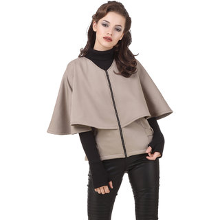 Texco Beige Winter Cape Jacket