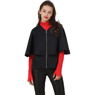 Texco Black Winter Cape Jacket
