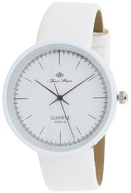 Nubela New White Colour White Dial Analogue Girls Watch
