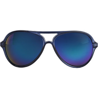 bdc2c1f4bdd Buy Austin Shine Blue Mirrored Aviator Sunglasses Online - Get 81% Off