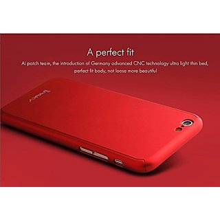 Motorola Moto G5 Plus G5+ 360 Degree Full Body Protection Front  Back Case Cover (iPaky Style) with Tempered Glass by BRAND FUSON for Motorola Moto G5 Plus G5+ - RED