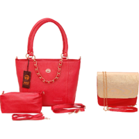 Anemone Women's Shoulder Bag And Sling Bag Combo (Red)