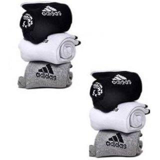 Adidas Unisex Ankle Length Socks - 6 Pairs