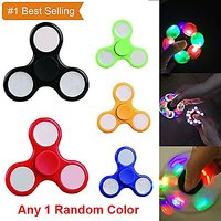 LED Light Finger Spinner Colourful Lighting for Autism and ADHD Hand Spinner Relief Focus Anxiety Stress - 1Random Color
