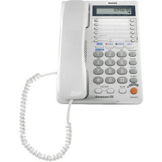Sonics SS-717D 2 Line Corded Landline Phone (White)