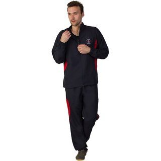 Greenwich United Polo Club Men's Navy Red Sports Tracksuit