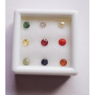 Kesar Zems  Navratna (9) Gemstones (3mm app.) Of Nine Planets