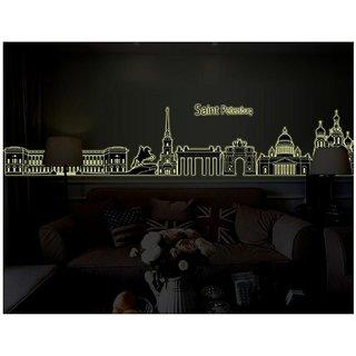 Jaamso Royals ' Saint Petersburg city Church  ' Wall Sticker (PVC Vinyl, 90 cm X 60 cm, Glow in the Dark Stickers)