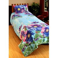 Home Berry Majestic Polycotton Single Bedsheet With 1 Pillow Cover (HCHB-19)